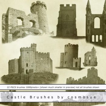 Castle Brushes by cosmos-Resources