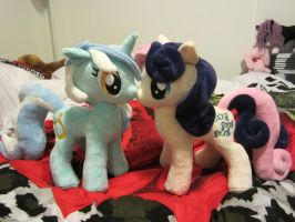 Bon Bon and Lyra Heartstrings plush by Little-Broy-Peep