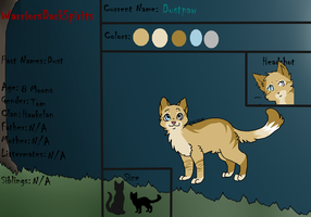 Dustpaw's Reference sheet by Evertooth