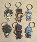 Cute Chibi Layton Charms! by zillabean