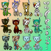 3 Points Cat adoptables - CLOSED by Nahemii-chan
