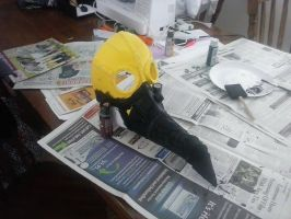 Plague Doctor Mask: Construction Day 4- Part 1 by Coderwhite