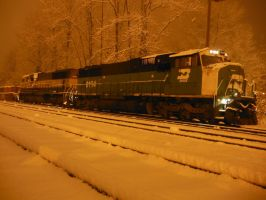 Stack Train Waiting in the Snow by TomRedlion