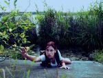 Little Lara Croft - falling by TanyaCroft