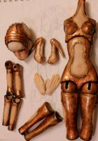 Steampunk bjd, work in progres by cliodnafae27