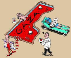 Save Gaza now by Latuff2