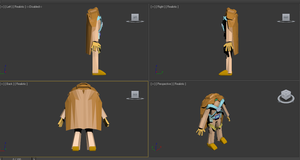 My First 3D Character Design by Paladin0