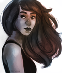 windy 'n sketchy hair by shiraline