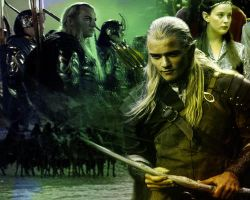 Legolas and the elves by huzzah147