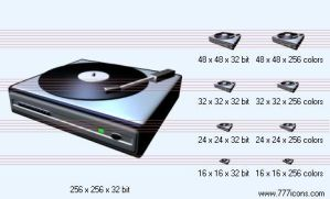 Record-player Icon by music-icon-set