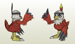 Papercraft - Hawkmon by Jyxxie