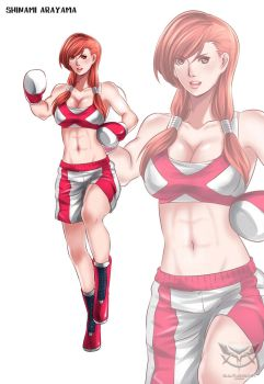 Chinami Arayama Professinal Boxing Gear by deadpoolthesecond