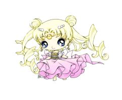 Chibi Princess Serenity by sureya Colored by PumpkinChans