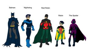 Batman and  the Robins by Shapshizzle