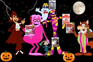 Kids favorite cereal mascots Monsters by Randolph-Larry