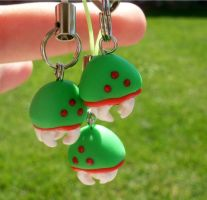 Metroid cell phone charms by kikums