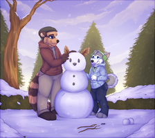 snowman building by High-Yote