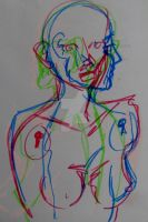51 2011 Tini -  Oil Pastel: Mannequin by JusTiniStilborn
