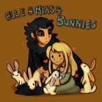 Elle Mias and Bunnies by StressedJenny