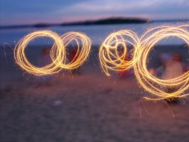 Four Sparklers 4982732 by StockProject1