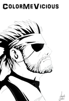 Naked Snake [UNCOLORED] by ColorMeVicious