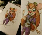 Gadget Hackwrench Steampunk WIP by MADmoiselleMeli