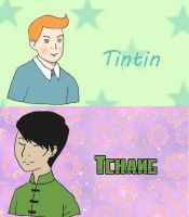Tintin and Tchang  Tea Blends by vickymyo