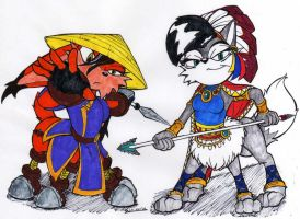 C. Storm and Lupe Taurs - Col. by dragonheart07