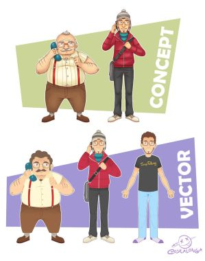 Character Design - Concept to Vector by Costalonga