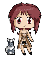 [K] Mini chibi Rachel with Nira by izka197