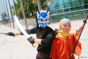 the Blue Spirit and the Avatar by pinkcravat