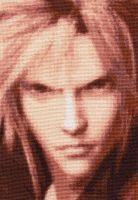 Cloud Strife - Cross Stitch by shingorengeki