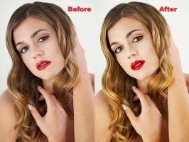 glamour photo retouching by Leeahd