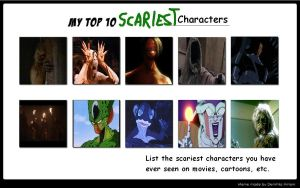 Top 10 Scary Characters by Komodo-Lancer