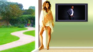 Cote De Pablo Thinking of Tiva by Dave-Daring