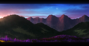 Lavender Land - Speedpainting by Enigmatic-Ki