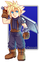Cloud Strife by xFennek