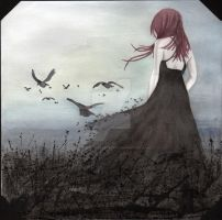 Flight of crows by AlessandraPlasterpad