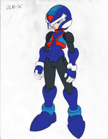 Mega Man X: MMZ Style line art colored by ZFShadowSOLDIER