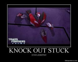 Transformers: Prime Knock Out Stuck in the Wall by Onikage108
