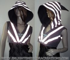 Womens-Reflective-Elf-Hoodie-Vest-Shrug by RedheadThePirate