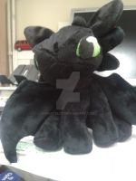 Front View Toothless in Minky 12inch by nightelfy