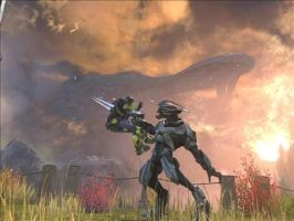 Halo reach the end by TheDarkWolf64