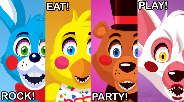 Prize Corner Poster from Five Nights At Freddy's 2 by Mochiroo
