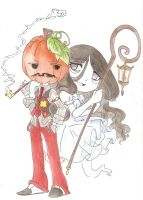 Pumpkin Jack and Banshee by Margaret-Lupin