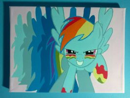 Dash's Warpaint, Painted by Painbow-Dash