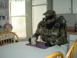 Master Chief Morning Coffee by MasterChief42283
