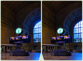 Toronto Union Station ::: HDR/RAW Cross-View 3D by zour