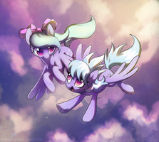 Flitter and Cloudchaser by Celebi-Yoshi