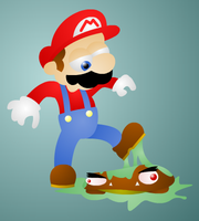 Goomba stomping by Blueberry-pie